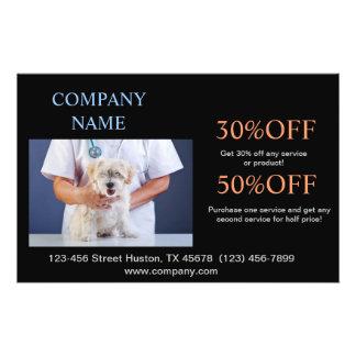 cute animals pet service Veterinarian Custom Flyer