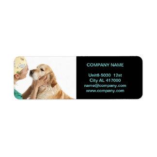 cute animals pet service Veterinarian Return Address Label