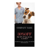 cute animals pet service Veterinarian Rack Card