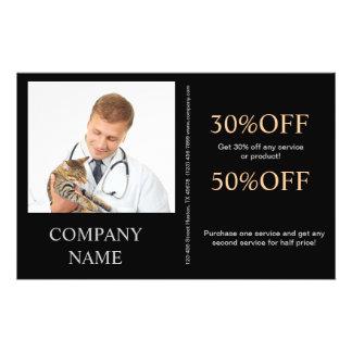 cute animals pet service veterinary flyers