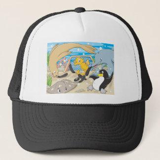 Cute Animals Player Water Hockey Goal Game Trucker Hat