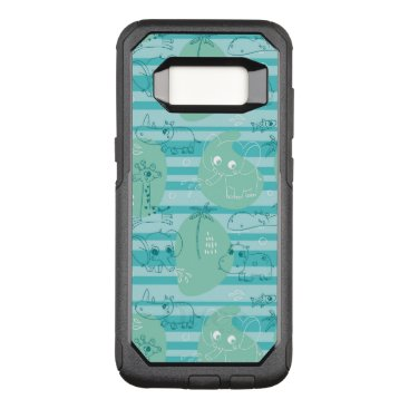 Beach Themed Cute animals playing with water 1 OtterBox commuter samsung galaxy s8 case