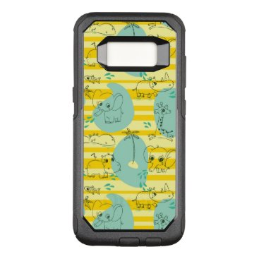 Beach Themed Cute animals playing with water 2 OtterBox commuter samsung galaxy s8 case