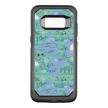 Beach Themed Cute animals playing with water 3 OtterBox commuter samsung galaxy s8 case