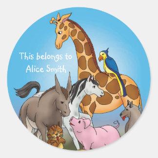 Cute animals School Sticker