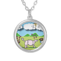 Cute Animals Silver Plated Necklace