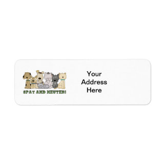Cute Animals Spay and Neuter Text Label