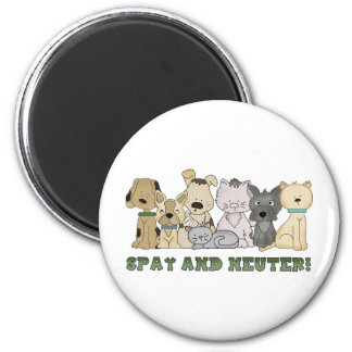 Cute Animals Spay and Neuter Text Magnet