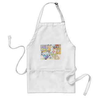 Cute Animals Work Out in Gym Shirt Fitness Adult Apron