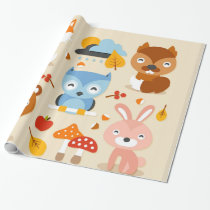 Cute Animals Wrapping Paper