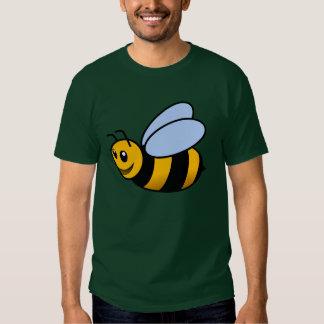 Cute animated bee cartoon illustration t-shirt
