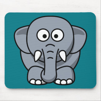 Cute animated Elephant Mouse Pad