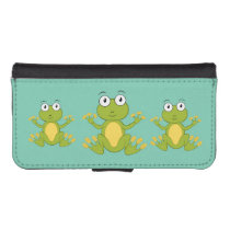 cute animated Frogs iPhone SE/5/5s Wallet