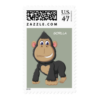 Cute Animated Gorilla Postage