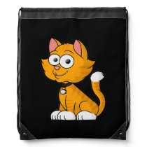 Cute Animated Kitty Drawstring Backpack