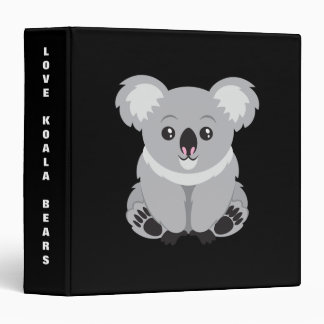 Cute animated Koala Bear background Binder