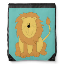 Cute animated Lion Drawstring Bag