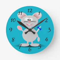 Cute animated mouse clock