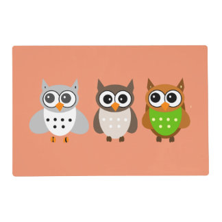 Cute animated Owls Placemat