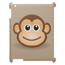 cute animated smiling monkey cover for the iPad 2 3 4