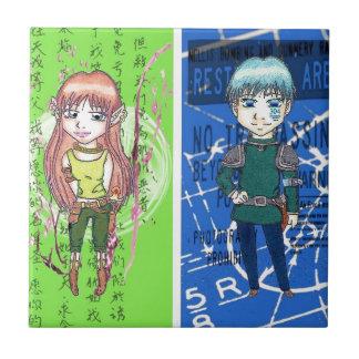Cute Anime Art Ceramic Tile