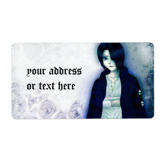 Cute anime boy labels for your text