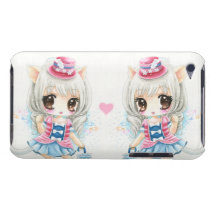 Cute anime cat girls iPod touch Case-Mate case