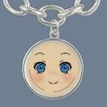 Cute Anime Face Charm Bracelet