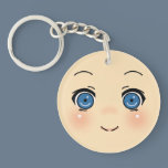 Cute Anime Face Keychain