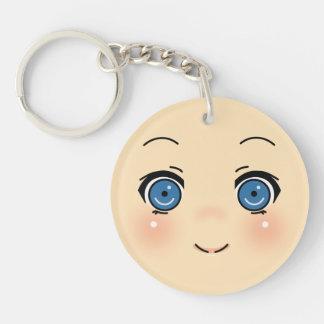 Cute Anime Face Keychain