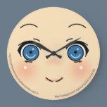 Cute Anime Face Large Clock