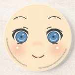 Cute Anime Face Sandstone Coaster