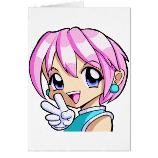 Cute Anime Girl Card