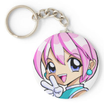 Cute Anime Girl Keychain