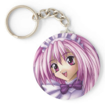 Cute Anime Girl Maid Keychain