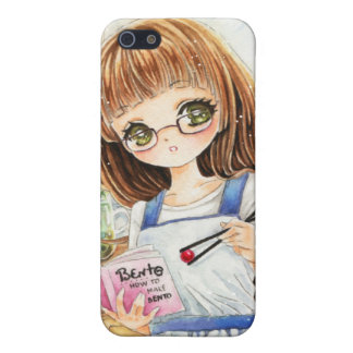 Cute anime girl making bento case for iPhone SE/5/5s