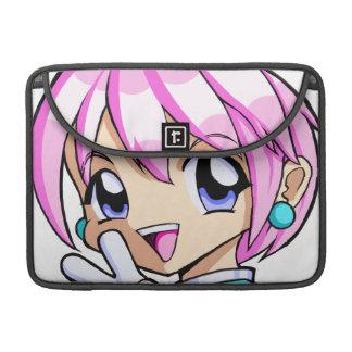 Cute Anime Girl Sleeve For MacBook Pro