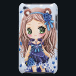 "Cute anime girl with blue roses Case-Mate iPod touch case<br><div class=""desc"">Cute anime girl with blue rose clip and dress</div>"