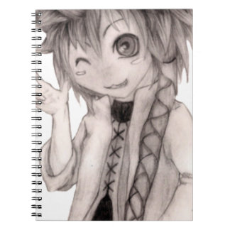 Cute Anime Guy, Original Drawing Notebook