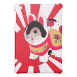 Cute Anime Japanese Flag Good Luck Cat iPad Mini Cover
