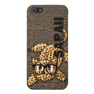 Cute Anime Leopard Nerd Glasses iPhone 5s Cover