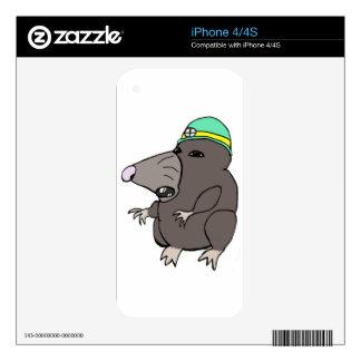 Cute Anime Mole Decal For iPhone 4