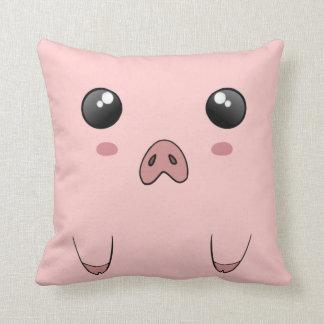 Cute Anime Pig Face Throw Pillow