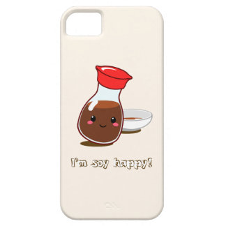 """Cute Anime Soy Sauce """"I'm soy happy!"""" iPhone SE/5/5s Case"""
