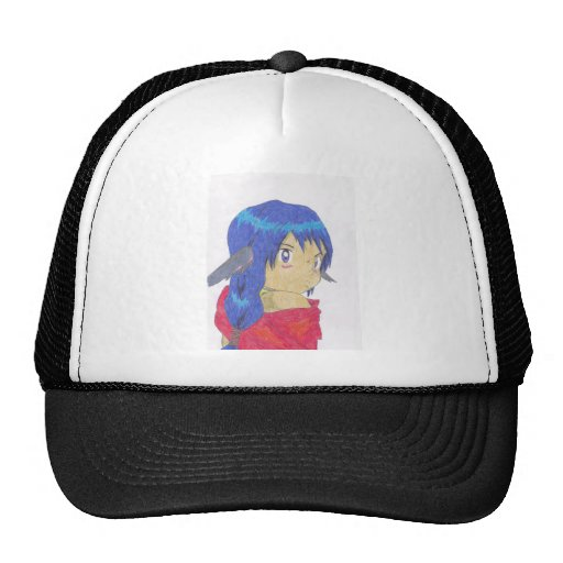 cute anime werewolf girl trucker hat