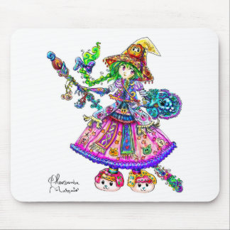 Cute Anime Witch Kawaii Halloween Magic Spell Mouse Pads