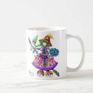 Cute Anime Witch Kawaii Halloween Magic Spell Coffee Mug