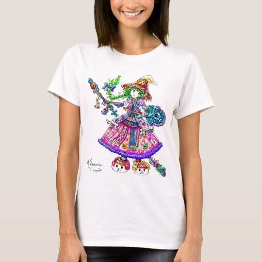 Cute Anime Witch Kawaii Halloween Magic Spell T-Shirt