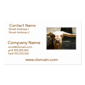 Cute Ankhole Cattle Business Card