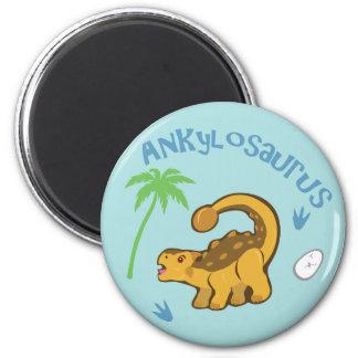 Cute Ankylosaurus 2 Inch Round Magnet